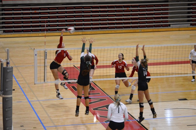 5th SXU Women's Volleyball vs Huntington (Ind.) 8/30/13 Photo