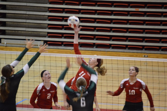 23rd SXU Women's Volleyball vs Huntington (Ind.) 8/30/13 Photo