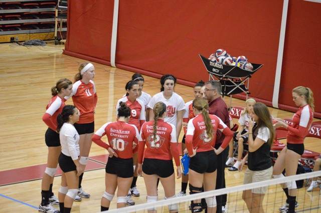 SXU Women's Volleyball vs Spring Arbor (Mich.) and Judson (Ill.) 8/31/13 - Photo 4