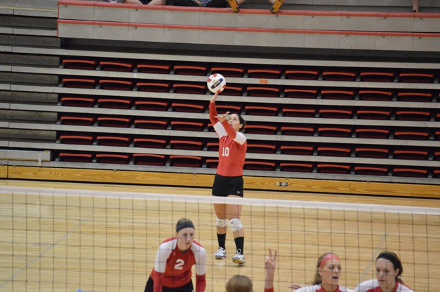 SXU Women's Volleyball vs Spring Arbor (Mich.) and Judson (Ill.) 8/31/13 - Photo 10