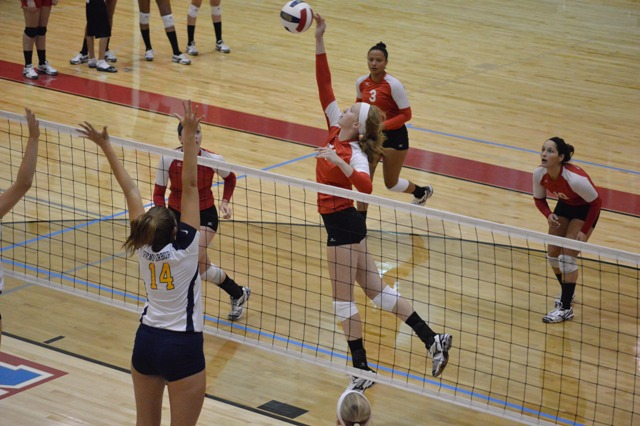 SXU Women's Volleyball vs Spring Arbor (Mich.) and Judson (Ill.) 8/31/13 - Photo 15