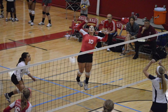 SXU Women's Volleyball vs Spring Arbor (Mich.) and Judson (Ill.) 8/31/13 - Photo 24