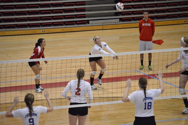 SXU Women's Volleyball vs Spring Arbor (Mich.) and Judson (Ill.) 8/31/13 - Photo 31
