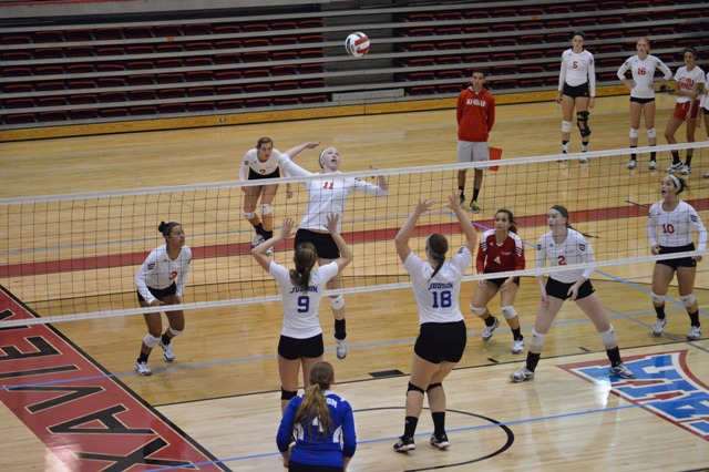 SXU Women's Volleyball vs Spring Arbor (Mich.) and Judson (Ill.) 8/31/13 - Photo 33