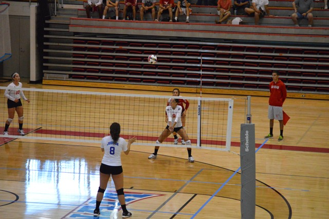 SXU Women's Volleyball vs Spring Arbor (Mich.) and Judson (Ill.) 8/31/13 - Photo 44