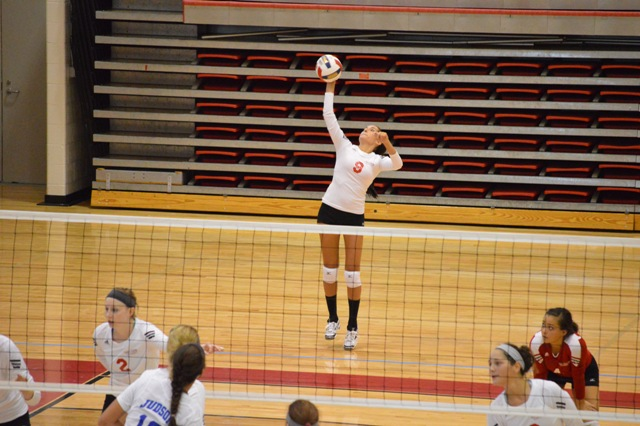 SXU Women's Volleyball vs Spring Arbor (Mich.) and Judson (Ill.) 8/31/13 - Photo 46