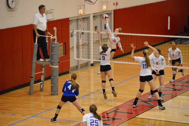 SXU Women's Volleyball vs Spring Arbor (Mich.) and Judson (Ill.) 8/31/13 - Photo 47