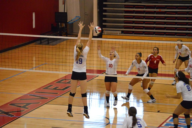 SXU Women's Volleyball vs Spring Arbor (Mich.) and Judson (Ill.) 8/31/13 - Photo 48