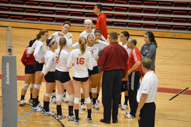SXU Women's Volleyball vs Spring Arbor (Mich.) and Judson (Ill.) 8/31/13 - Photo 49