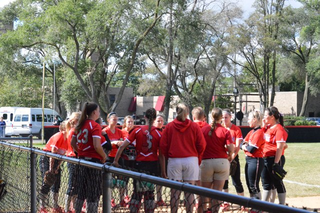 1st SXU Softball vs Roosevelt (Ill.) 9/13/13 Photo