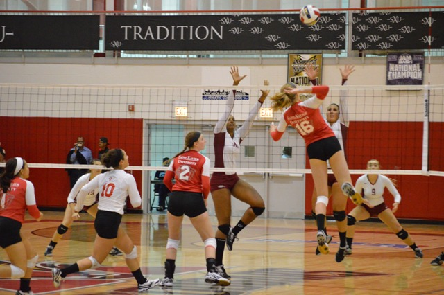 25th SXU Women's Volleyball vs Cardinal Stritch (Wis.) 9/17/13 Photo