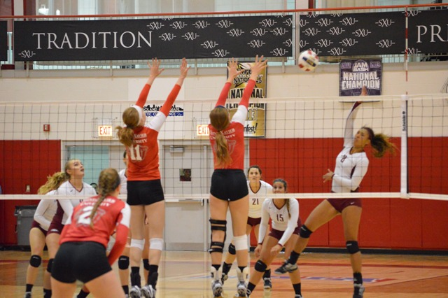 26th SXU Women's Volleyball vs Cardinal Stritch (Wis.) 9/17/13 Photo