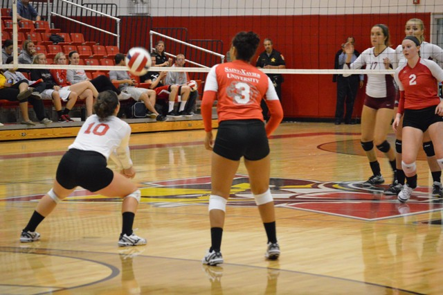 28th SXU Women's Volleyball vs Cardinal Stritch (Wis.) 9/17/13 Photo