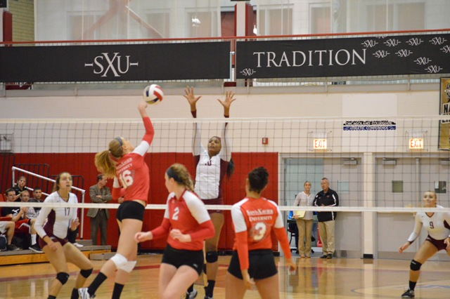 30th SXU Women's Volleyball vs Cardinal Stritch (Wis.) 9/17/13 Photo