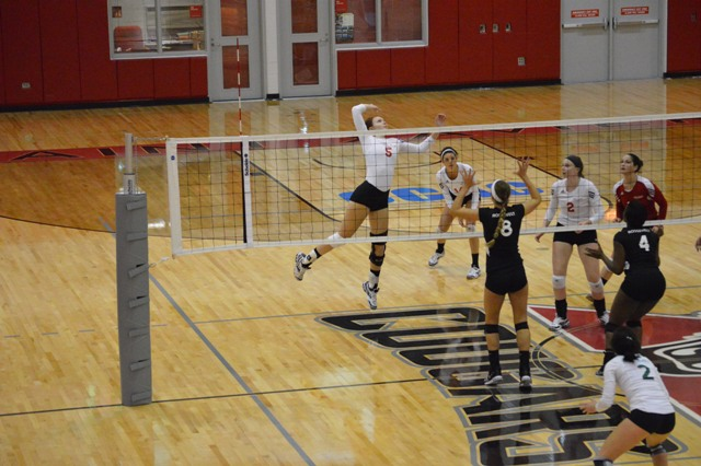 9th SXU Women's Volleyball vs Roosevelt (Ill.) 10/1/13 Photo