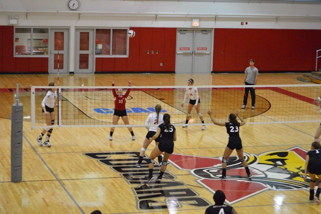 11th SXU Women's Volleyball vs Roosevelt (Ill.) 10/1/13 Photo
