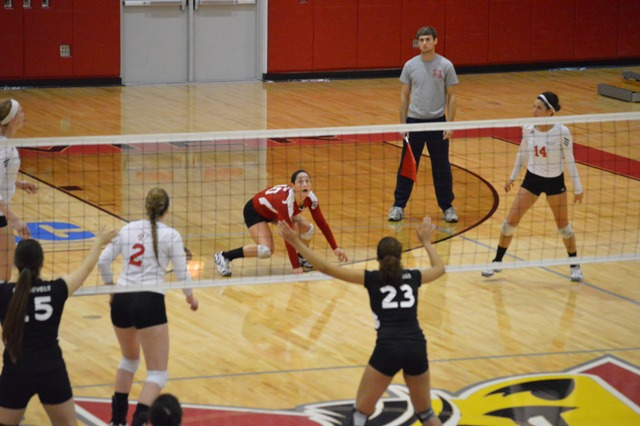 14th SXU Women's Volleyball vs Roosevelt (Ill.) 10/1/13 Photo