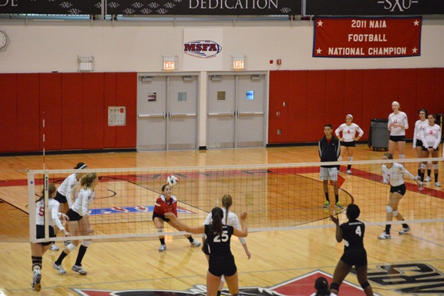 18th SXU Women's Volleyball vs Roosevelt (Ill.) 10/1/13 Photo