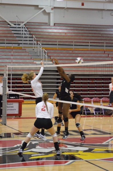 2nd SXU Women's Volleyball vs Roosevelt (Ill.) 10/1/13 Photo