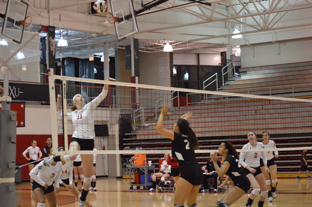 5th SXU Women's Volleyball vs Roosevelt (Ill.) 10/1/13 Photo