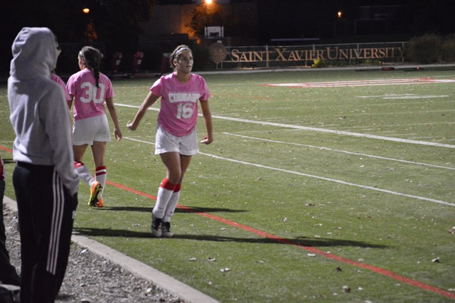 3rd SXU Women's Soccer vs. Trinity International 10-9-13 Photo