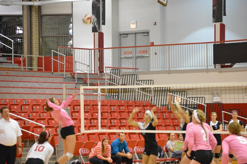 3rd SXU Women's Volleyball vs Trinity International (Ill.) 10/29/13 Photo