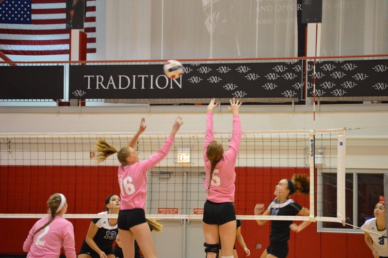 4th SXU Women's Volleyball vs Trinity International (Ill.) 10/29/13 Photo