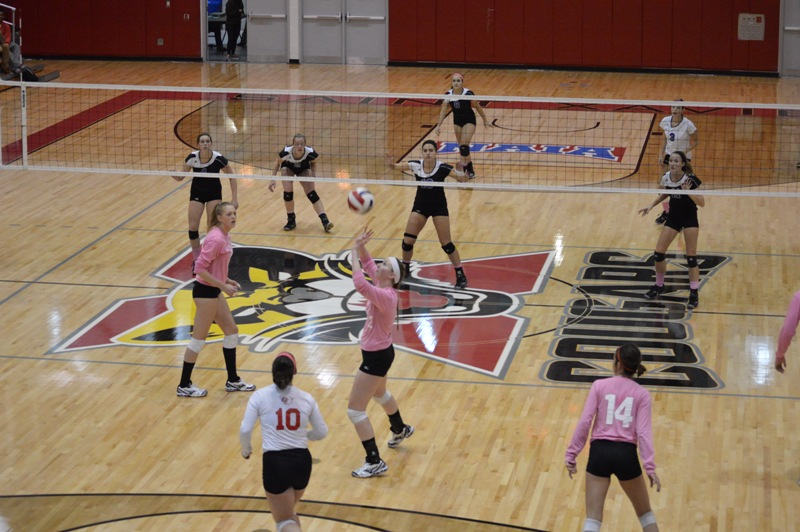 20th SXU Women's Volleyball vs Trinity International (Ill.) 10/29/13 Photo