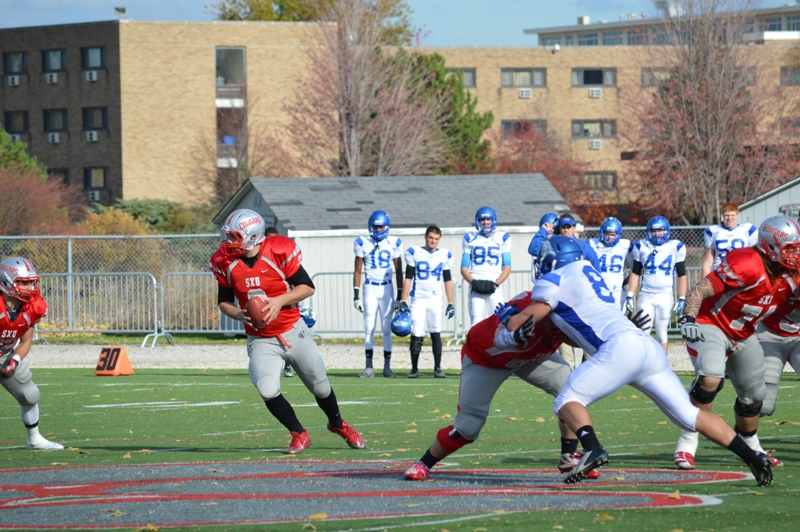 21st SXU Football vs Trinity International (Ill.) 11/9/13 Photo