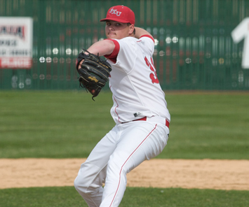 Senior Ken Hurta got the game one win for Saint Xavier Wednesday