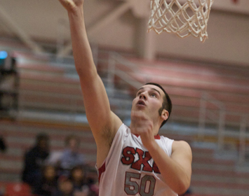 Senior Jake Listebarger made the 2009 Midwest All-Tournament Team for SXU