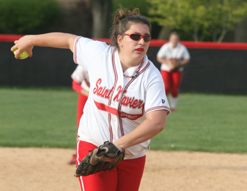 Junior Amie Brown pitched a four-hit shutout in Tuesday's opener against TIU