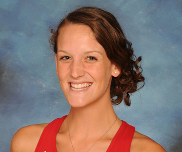 Senior Lauren Dentzman qualified in the 1500 meter run and as a member of the 4x800 meter relay team