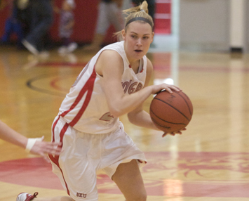 Junior Michelle Tourtillott dropped 14 points in Sunday's loss to No. 19 Lindsey Wilson
