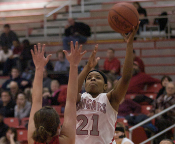 Senior Shalonda Young posted 19 points and 10 rebounds Tuesday