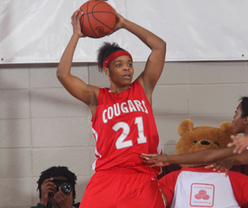 Senior Shalonda Young - three-time CCAC Player of the Week