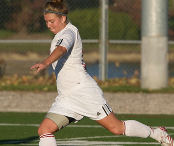Senior Larissa Jondle scored SXU's first goal of the season Friday