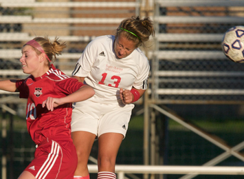 Junior Lauren LaRoy (#13) had two goals for Saint Xavier Saturday