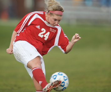 Junior Casey Meehan had Saint Xavier's lone goal Saturday