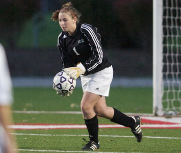 Senior Ashley Shugar had four saves for the Cougars Friday against Olivet