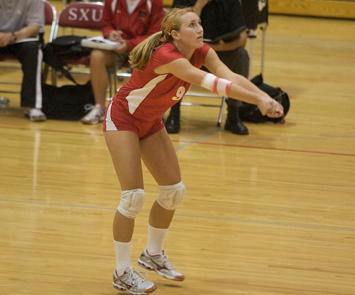 Sophomore libero Christine Bowe earned all-tournament honors this weekend