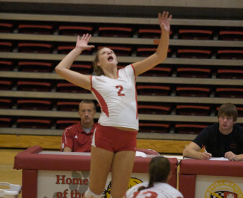 Sophomore Kayla Mullaney had a combined 43 kills on the weekend