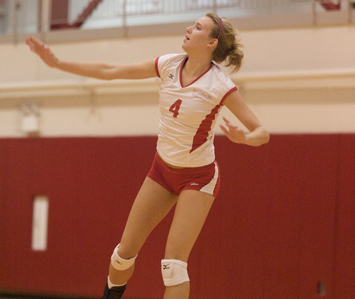Junior Kim Scudder finished Saturday with a combined 28 kills