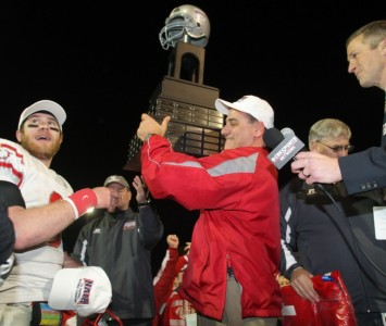 SXU football coach Mike Feminis is excited to start spring football practices after winning the NAIA National Championship