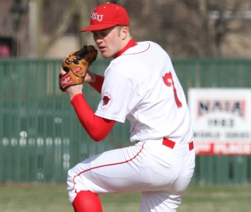 Junior Lucas Fritsch threw well in game two Thursday against Indiana Tech