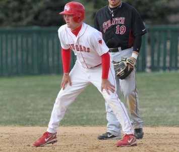 Sophomore Brad Myjak had three hits and two RBI Saturday against Olivet
