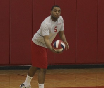 Sophomore Justin Cousin had 17 kills in Wednesday's match against Carthage College