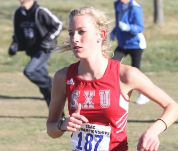 Senior Rachael Dean finished third overall at the NAIA Great Lakes Challenge Saturday