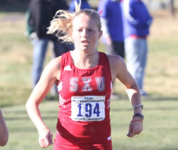 Sophomore Jordan Wallace had her best time of the season at 19:17