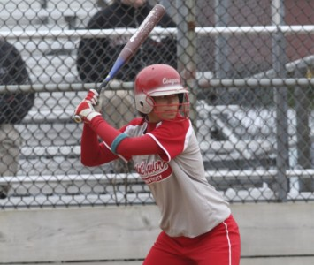 Senior Ashley Hunter hit two home runs and a triple in Tuesday's sweep of PUNC